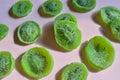 Dried fruit green Kiwi slices Royalty Free Stock Photo