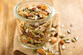 Dried fruit and nuts trail mix Royalty Free Stock Photo