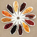 Dried Fruit Selection Stock Photos