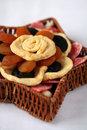 Dried fruits in a basket Royalty Free Stock Photos