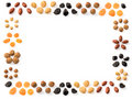 Dried fruits frame Royalty Free Stock Photo