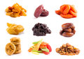 Dried fruits isolated Royalty Free Stock Photo