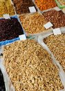Dried fruits on market place, Royalty Free Stock Photo