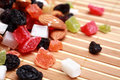 Dried fruits and nuts collection Royalty Free Stock Photography