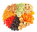 Dried fruits round Stock Image