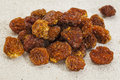 Dried goldenberries physalis peruviana superfruit from peru rich in antioxidnats vitamin a bioflavonoids and dietary fiber white Stock Photography
