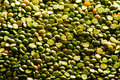 Dried green peas Royalty Free Stock Images