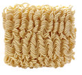 Dried instant noodles for ramen on white Stock Images