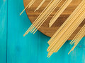 Dried Italian Style Linguini Pasta Royalty Free Stock Photo