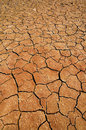 Dried lake in the Namib desert Royalty Free Stock Images