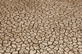 Dried Land Suffering from Drought Royalty Free Stock Photo