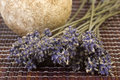 Dried lavender bunch and soap Stock Photo