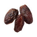 Dried medjool dates isolated on white background Royalty Free Stock Photo