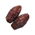 Dried medjool dates isolated on white background Royalty Free Stock Image