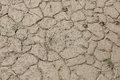 Dried mud near the river dry year Royalty Free Stock Photo