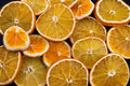 Dried orange slices background of Stock Photo