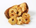 Dried pineapple rings Royalty Free Stock Photo