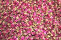 Dried pink roses are used for tea and for medical purposes in china Stock Images