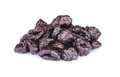 Dried pitted prunes isolated on a white background Stock Photography