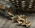 Dried Porcini Mushrooms Stock Photo