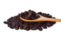 Dried raisins on a white background Royalty Free Stock Photography