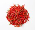 Dried red chilies hot chili peppers Stock Image