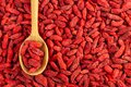 Dried goji berries or wolfberries organic berry background Royalty Free Stock Photo