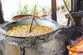 Dried ring banana chips. Royalty Free Stock Photography