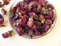 Dried rose petals in a bowl Royalty Free Stock Photos