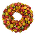 Dried saffron wreath colourful made from flowers isolated on white Royalty Free Stock Photography