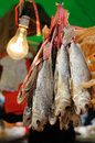 Dried salted fish Royalty Free Stock Image