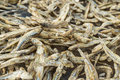 Dried small fish used in asian cuisine Royalty Free Stock Photo