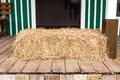 Dried straw on wood floor Royalty Free Stock Photography
