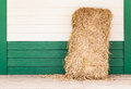 Dried straw on wood wall Stock Images