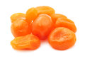 Dried tangerines sweet isolated on white background Stock Photos