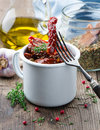 Dried tomatoes in a bowl Royalty Free Stock Image