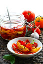 Dried tomatoes in oil Royalty Free Stock Images