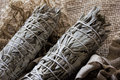 Dried White Sage Smudge Royalty Free Stock Photo