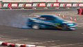 Drift racing car motion blur Royalty Free Stock Photo