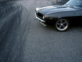 Drifting American Classic Car Stock Image