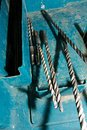Drill bits in box of various sizes located a plastic carrier Royalty Free Stock Images