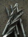 Drill bits old worn out Royalty Free Stock Images