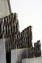 Drill bits set of in an indexed case Royalty Free Stock Photography