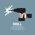 Drill in hand vector illustration Stock Photo