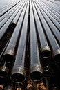 Drill pipes Stock Photo