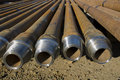 Drill pipes Royalty Free Stock Photo