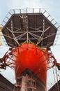 Drill Ship in Sembawang Shipyard Royalty Free Stock Photo