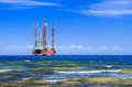 Drilling platform in the sea Royalty Free Stock Images