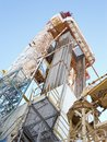 Drilling rig bu in the arctic circle Stock Photos