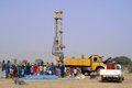 Drilling of a well in Burkina Faso Faso Royalty Free Stock Image